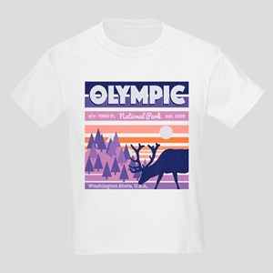 Olympic National Park Sunset Mountain Sky T-Shirt