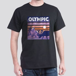 Olympic National Park Sunset Mountain Sky T-Shirt