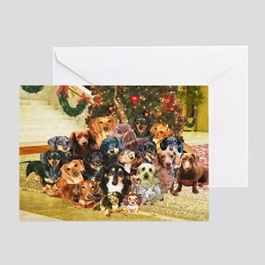 A Dachshund Family Christmas Greeting Card