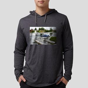White & navy float plane, Long Sleeve T-Shirt