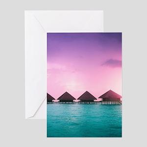 Ocean Bungalows Greeting Card