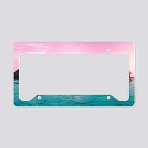 Ocean Bungalows License Plate Holder