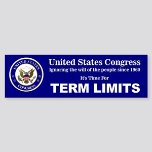 Congressional Term Limits Sticker (Bumper)