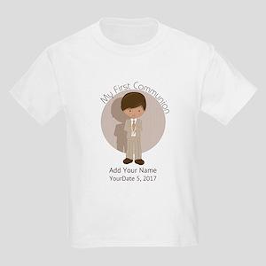 First Communion Brown Hair Kids Light T-Shirt