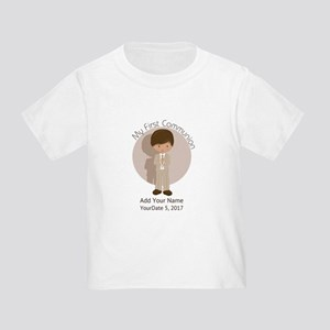 First Communion Brown Hair Toddler T-Shirt