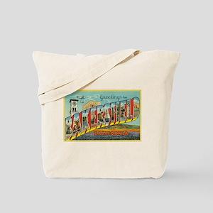 Greetings from Bakersfield, California Tote Bag