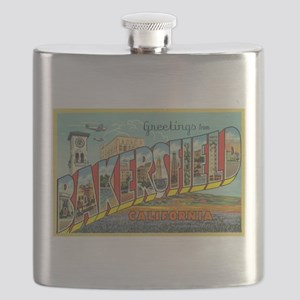 Greetings from Bakersfield, California Flask