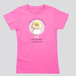 First Communion Blonde Hair Girl's Tee