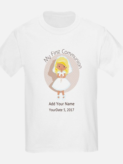 First Communion Blonde Hair T-Shirt