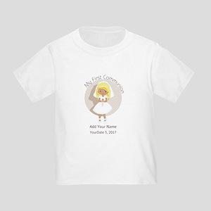 First Communion Blonde Hair Toddler T-Shirt