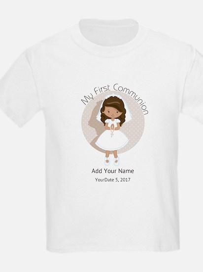 First Communion Brown Hair T-Shirt
