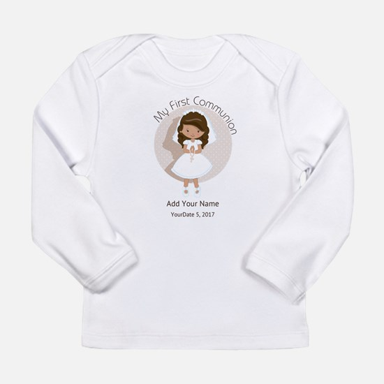 First Communion Brown H Long Sleeve Infant T-Shirt