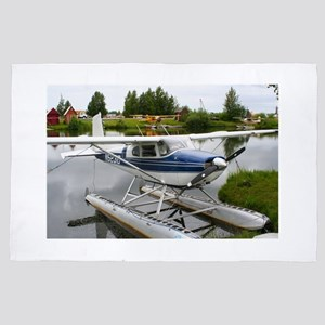 White & navy float plane, Alaska 4' x 6' Rug