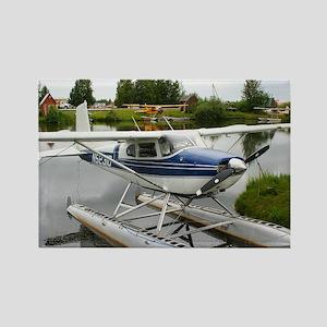 White & navy float plane, Alaska Magnets