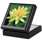 Pink Water Lily Tile Box
