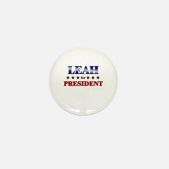 LEAH for president Mini Button
