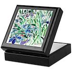 Blue Iris Keepsake Box