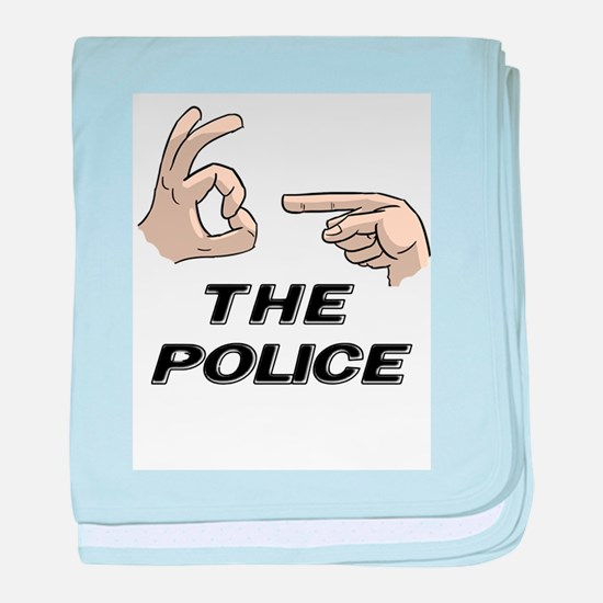 THE POLICE baby blanket