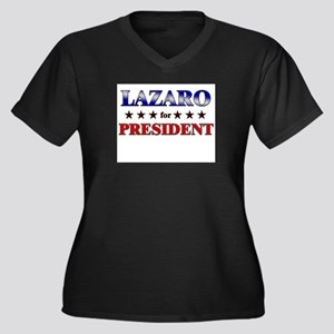 LAZARO for president Women's Plus Size V-Neck Dark