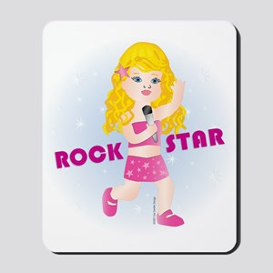 Rock Star Girl (BL) Mousepad