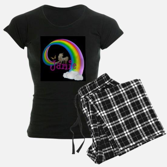 Unicorn rainbow personalize Pajamas