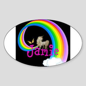 Unicorn rainbow personalize Sticker