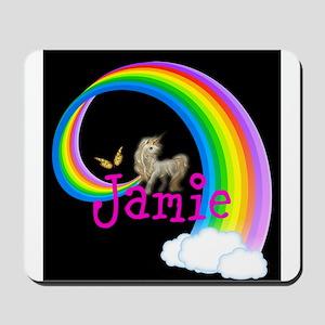 Unicorn rainbow personalize Mousepad