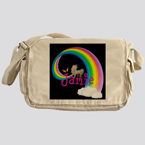 334031a61a Rainbow Unicorn Messenger Bags - CafePress