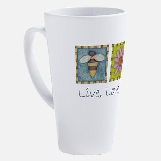 Cute Bee 17 oz Latte Mug