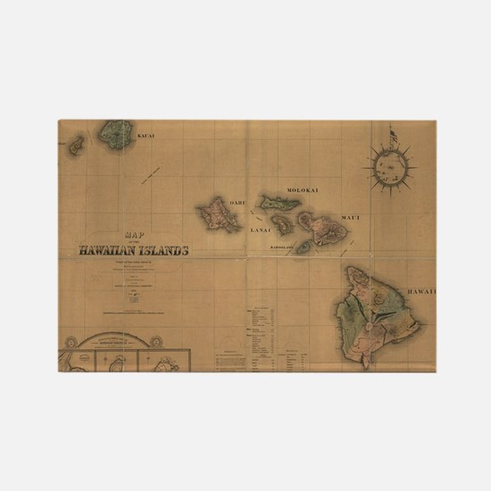 Antique map Rectangle Magnet
