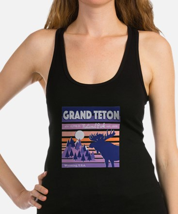 Cute Grand teton Racerback Tank Top