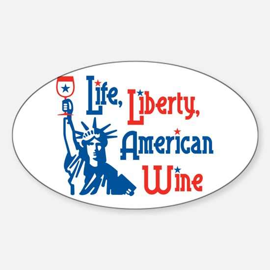 Life Liberty Wine Oval Decal