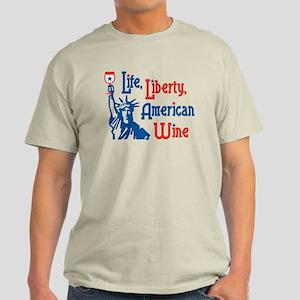 Life Liberty Wine Light T-Shirt