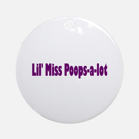 Miss Poops a lot Ornament (Round)