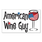 American Wine Guy Rectangle Sticker