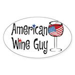 American Wine Guy Oval Sticker