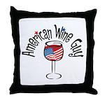 American Wine Guy Throw Pillow