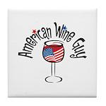 American Wine Guy Tile Coaster