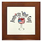 American Wine Guy Framed Tile