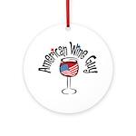 American Wine Guy Ornament (Round)