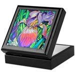 Purple Iris Keepsake Box