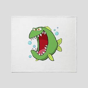 Crazed Fish Throw Blanket