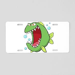Crazed Fish Aluminum License Plate