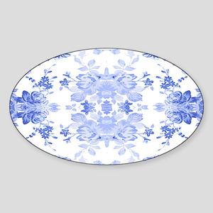 Vintage Delicate Blue Floral Sticker