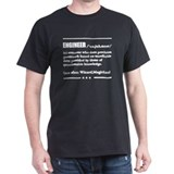 Engineer Mens Classic Dark T-Shirts