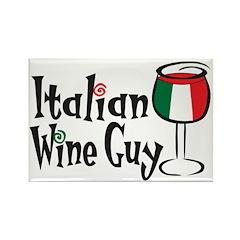 Italian Wine Guy Rectangle Magnet