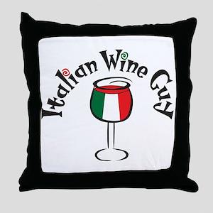 Italian Wine Guy Throw Pillow