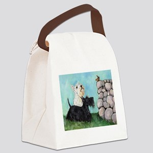 Scotties and Wren Canvas Lunch Bag