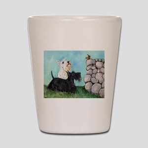 Scotties and Wren Shot Glass