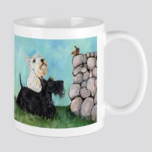 Scotties and Wren Mug